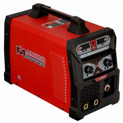 185 Amp MIG Wire Feed/Flux Core/TIG Torch/Stick Arc Welder, Weld Aluminum with 2T/4T 110-Volt/230-Volt Welding