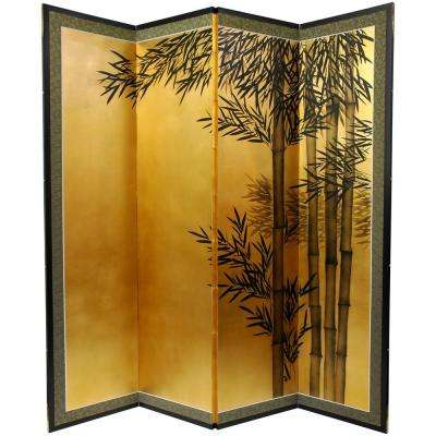 "69.5 in. x 67 in. ""Gold Leaf Bamboo"" Wall Art"
