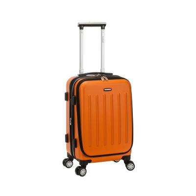 Rockland Expandable Titan 19 in. Hardside Spinner Laptop Carry-On Suitcase, Orange