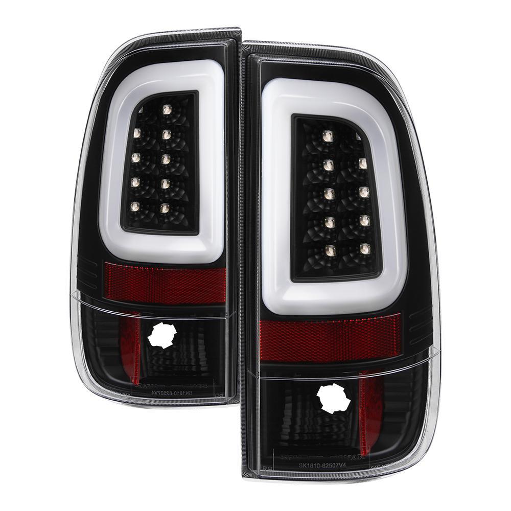 Ford F150 Styleside 97 03 F250 350 450 550 Super Duty 99 07 Version 3 Light Bar Led Tail Lights Black