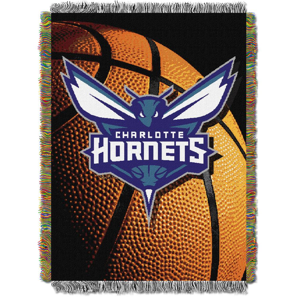 Hornets Photo Real Multi Color Polyester Tapestry throw