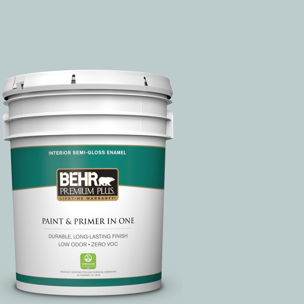 BEHR Premium Plus 5-gal. #N440-2 Urban Raincoat Semi-Gloss Enamel Interior Paint