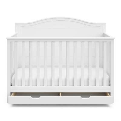 Moss White Convertible Crib With Drawer