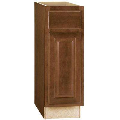 Hampton Assembled 12x34.5x24 in. Base Kitchen Cabinet with Ball-Bearing Drawer Glides in Cognac