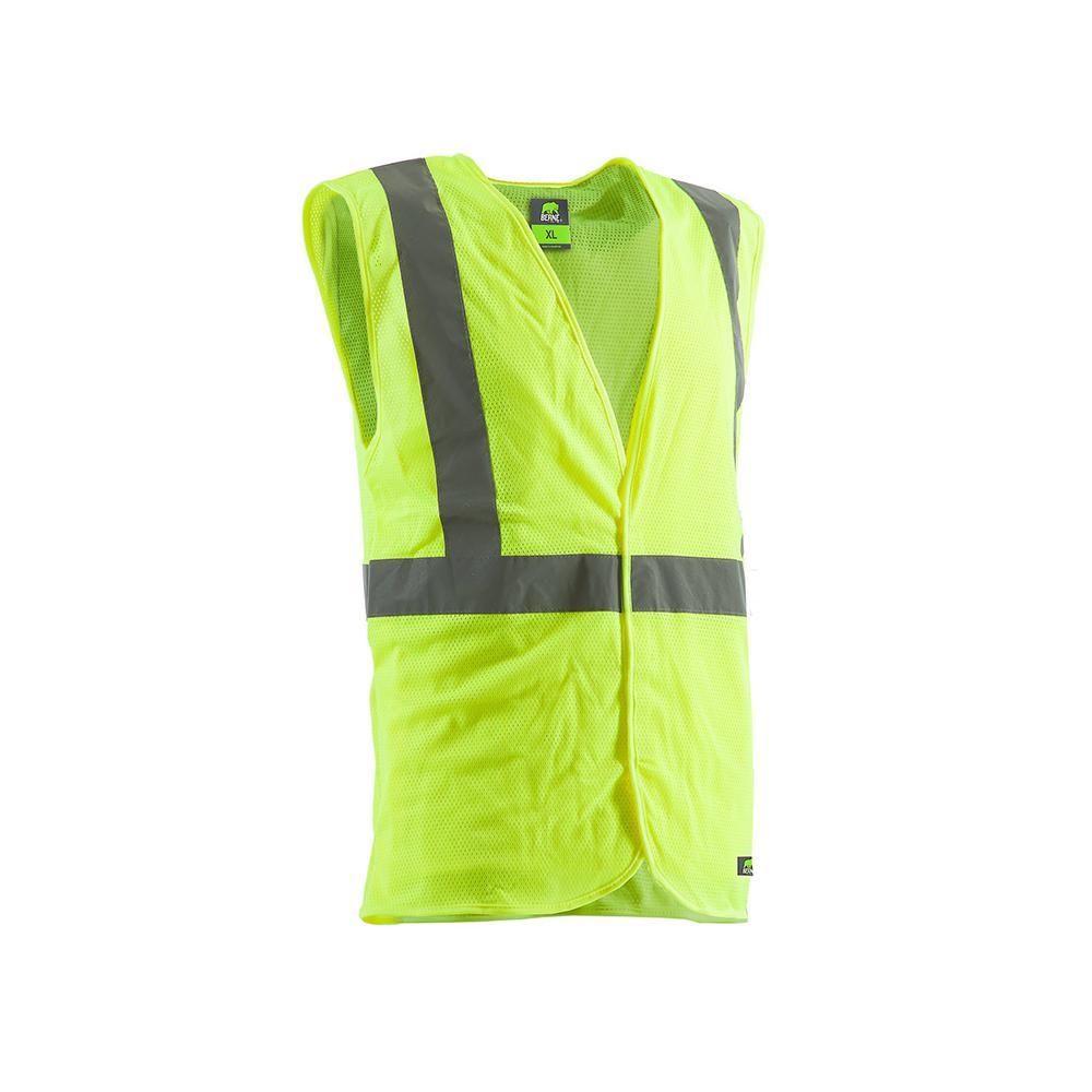 Men's 4 XL Yellow Polyester Mesh Hi-Vis Type R Class 2 Economy Vest