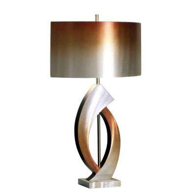 bronze metal lamps cylindrical bronze table lamps lamps shades the home depot