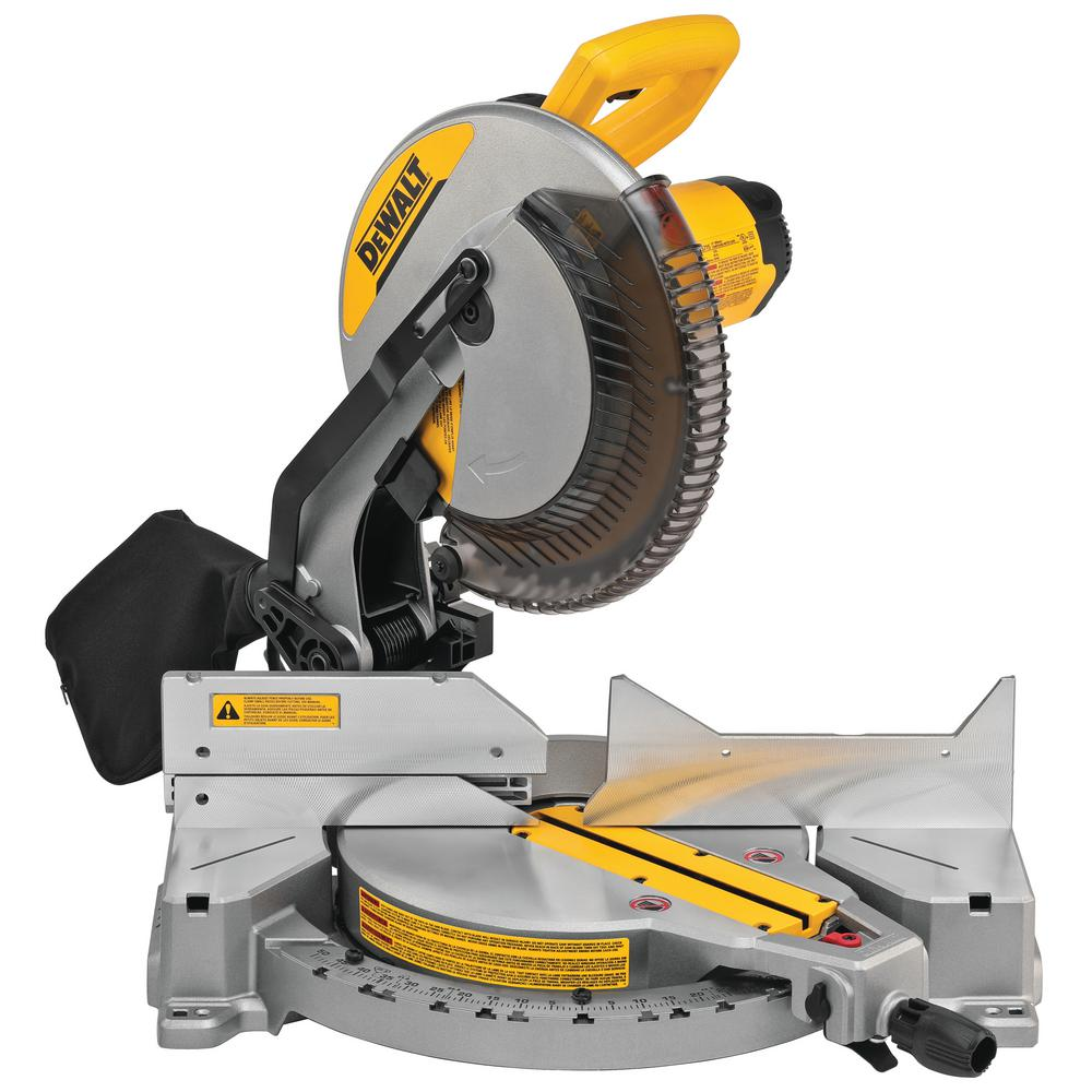 DEWALT 15 Amp Corded 12 in. Compound Single Bevel Miter Saw