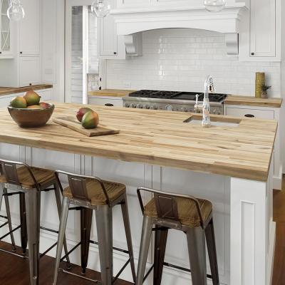 Unfinished Acacia 6 ft. L x 39 in. D x 1.5 in. T Butcher Block Island Countertop