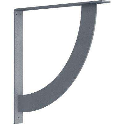 2 in. x 20 in. x 20 in. Steel Hammered Silver Bulwark Bracket
