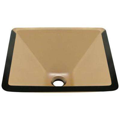Glass Vessel Sink in Taupe