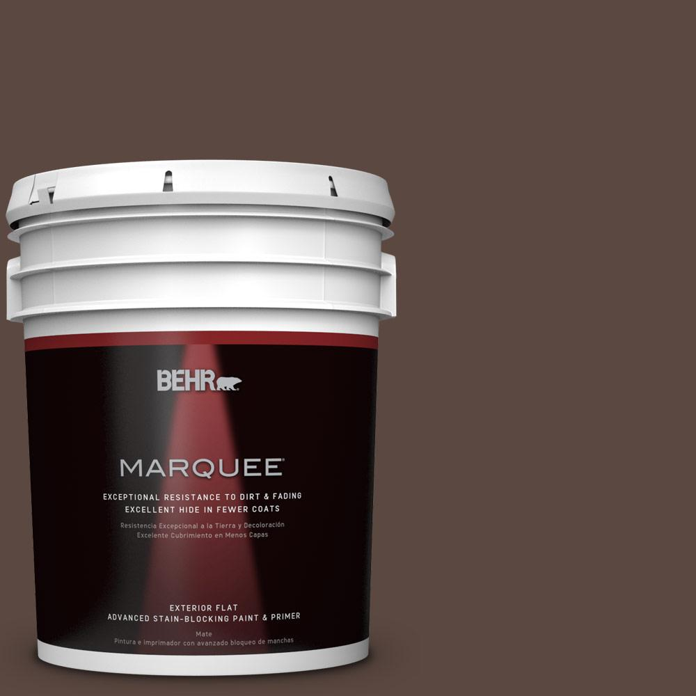 5-gal. #N170-7 Baronial Brown Flat Exterior Paint