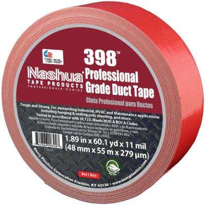 1.89 in. x 60.1 yds. 398 All-Weather HVAC Duct Tape in Red