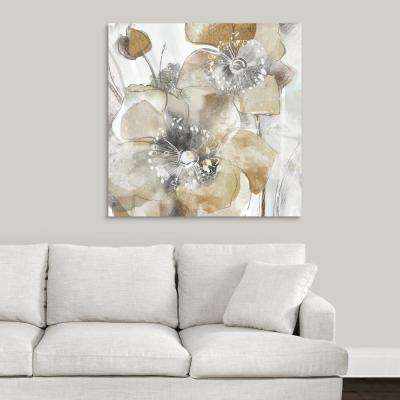 """""""Taupe Spring Poppy II"""" by Maria Donovan Canvas Wall Art"""
