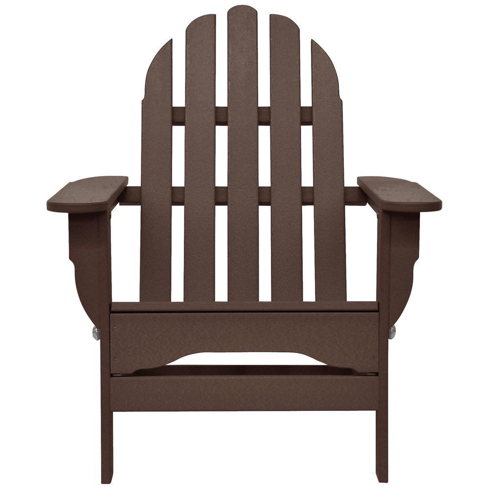 Icon Chocolate Plastic Folding Adirondack Chair