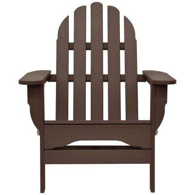 Brown Adirondack Chairs Patio Chairs The Home Depot