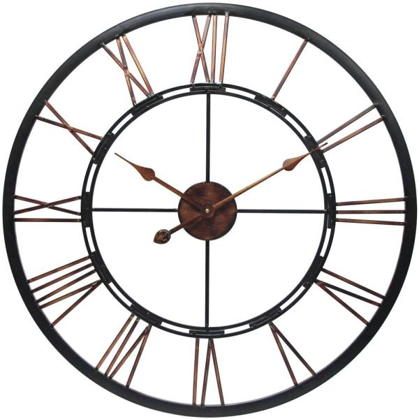 Metal Fusion 28 in. H x 28 in. W Round Wall Clock