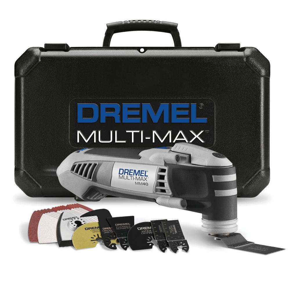 Dremel Multi-Max 3.8 Amp Variable Speed Corded Oscillating Multi-Tool Kit with 36 Accessories and Storage Bag