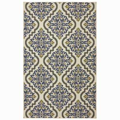 Woodbridge Morrison Blue 5 ft. x 8 ft. Indoor Area Rug