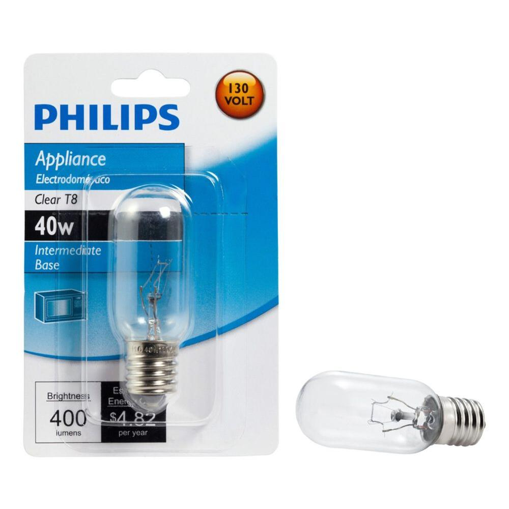 Philips 40-Watt T8 Intermediate-Base Incandescent Light Bulb