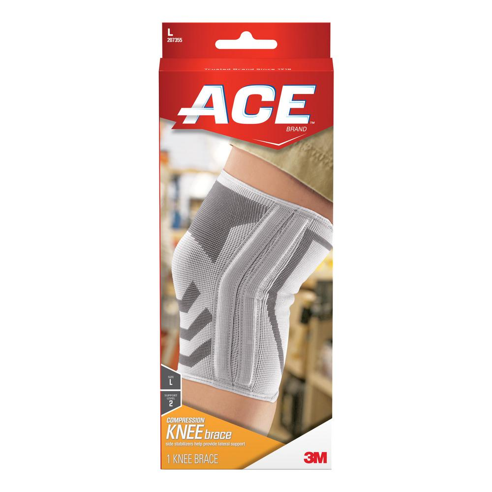 Ace Large Knitted Knee Brace with Side Stabilizers