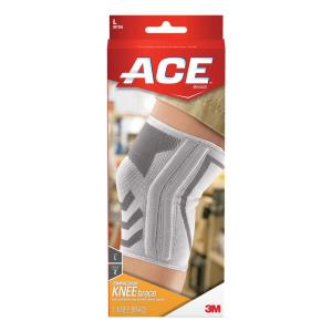 Ace Large Knitted Knee Brace With Side Stabilizers 207355