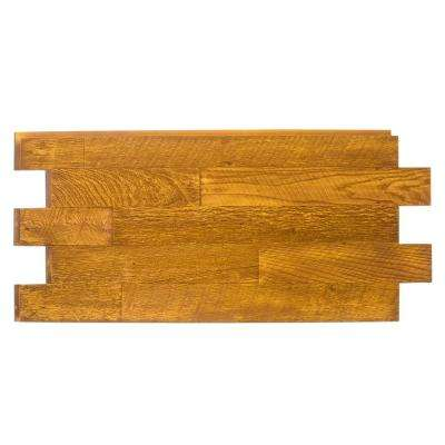 Faux Barnwood Panel 1-1/4 in. x 52.25 in. x 23 in. Honey Pine Polyurethane Interlocking Panel