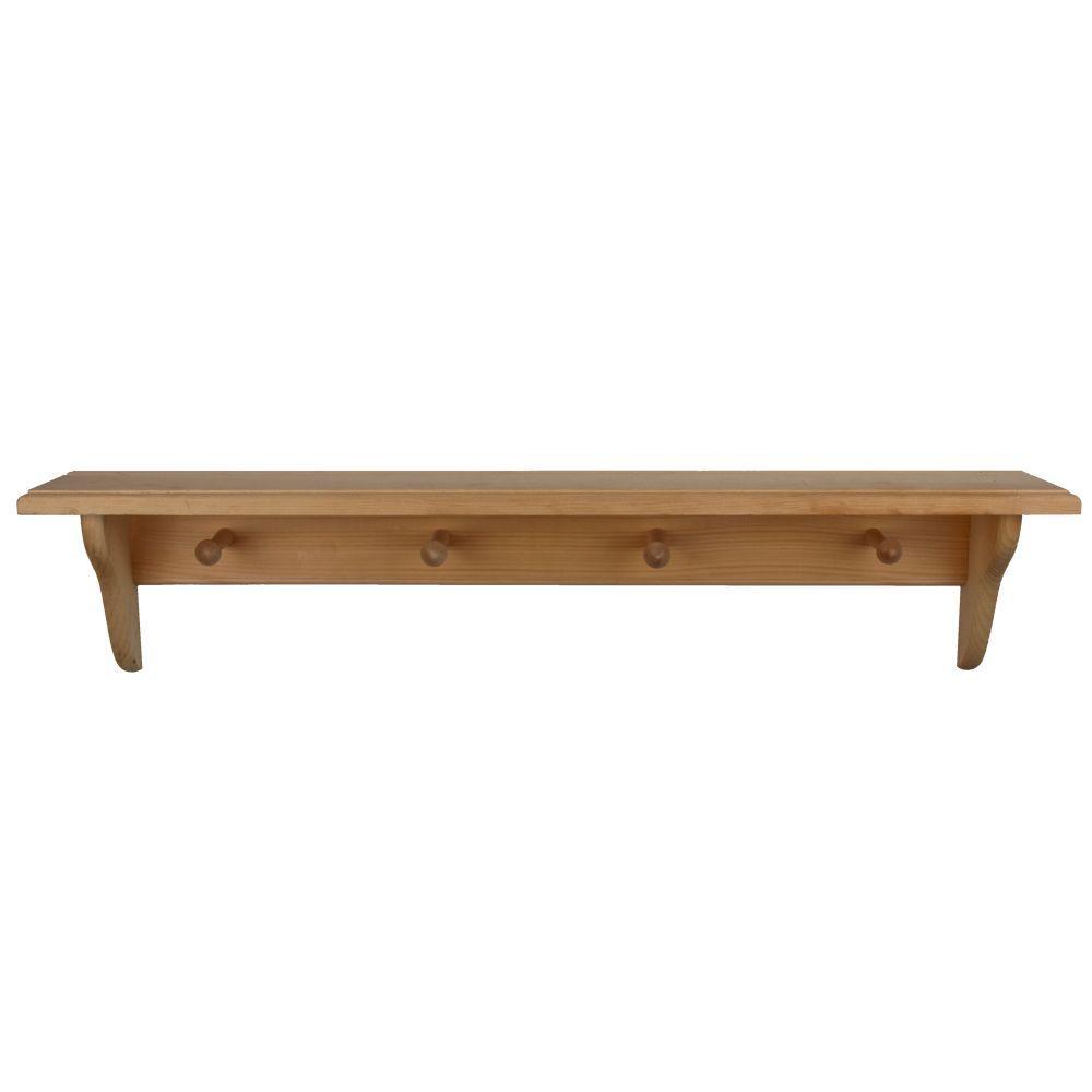 Wood Shelves Home Depot ~ Houseworks in unfinished wood decor shelf