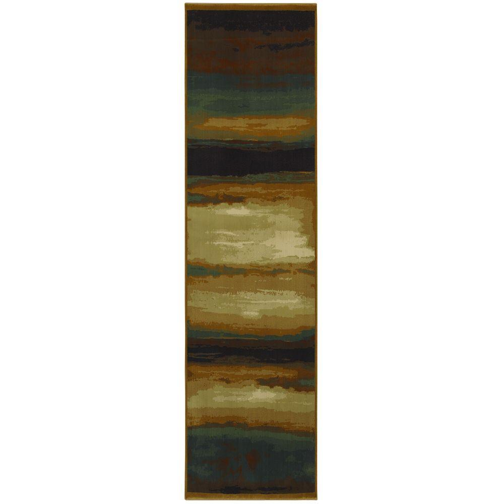 Mohawk Home Select Versailles Skyways Blue 2 ft. 1 in. x 7 ft. 10 in. Runner
