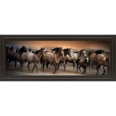 "18 in. x 42 in. ""Oncoming Storm"" by Bobbie Goodrich Framed Printed Wall Art"