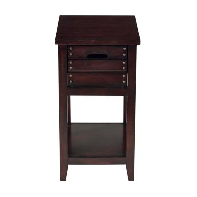 Camille Walnut Chair Side Table