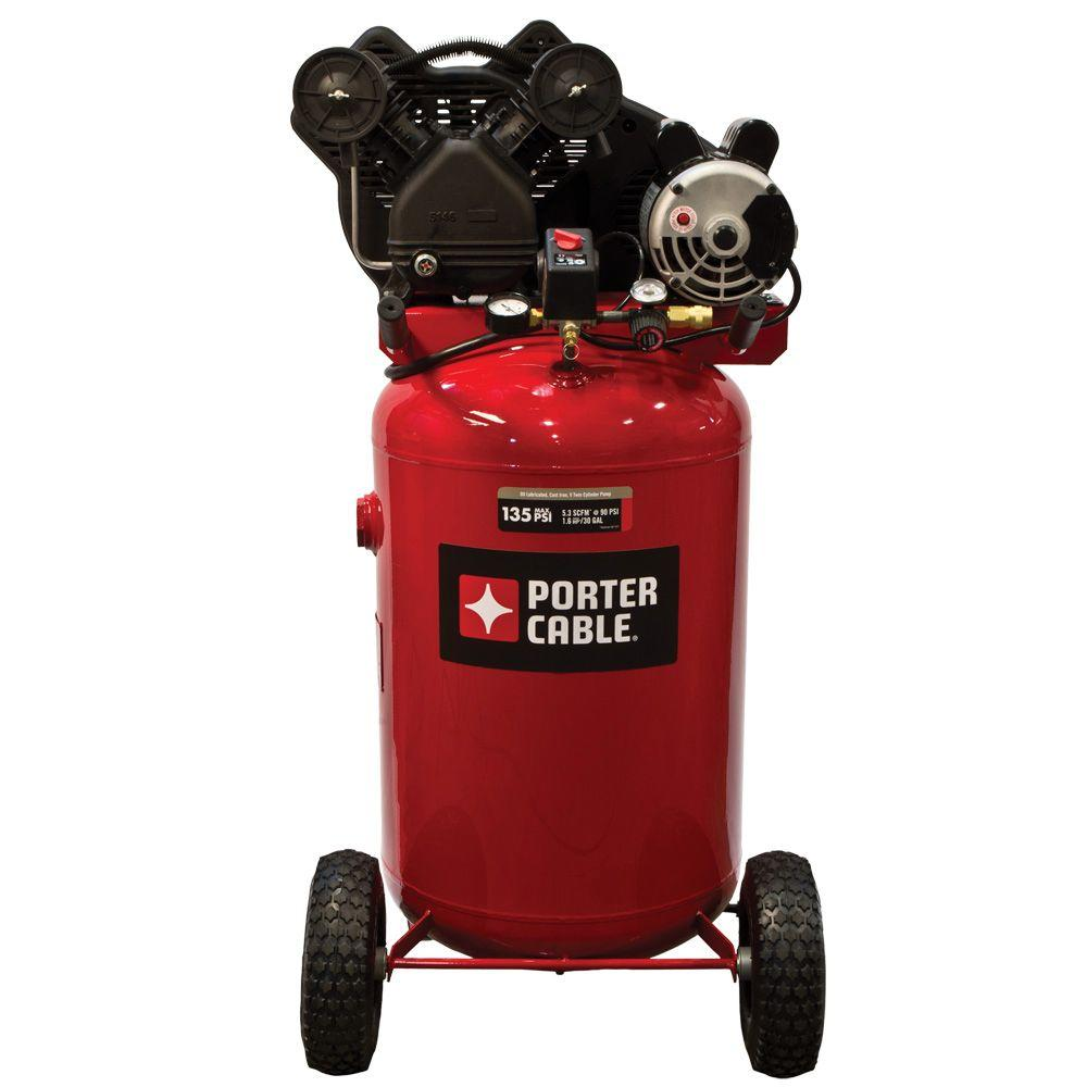 portable air compressor porter cable 30 gal vertical portable air compressor 10663