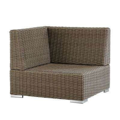 Camari Mocha Wicker Corner Outdoor Sectional Chair