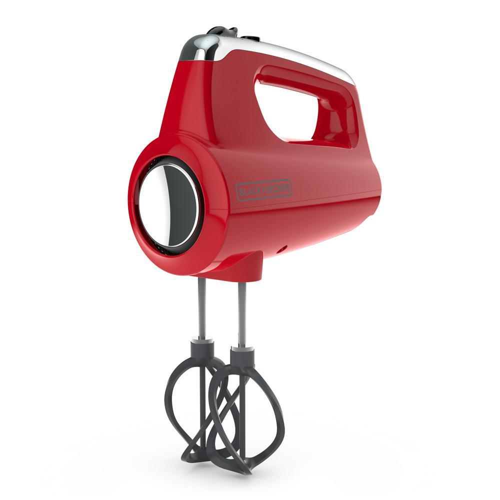 Helix Performance Premium 5-Speed Mixer Red Hand Mixer
