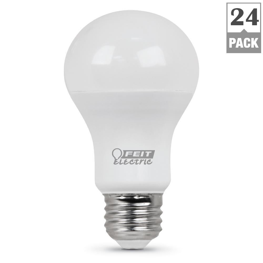 60-Watt Equivalent Soft White A19 LED Medium Base Light Bulb (Case