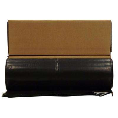 20 ft. x 100 ft. Black 10 Mil Plastic Sheeting (12-Rolls/Pallet)