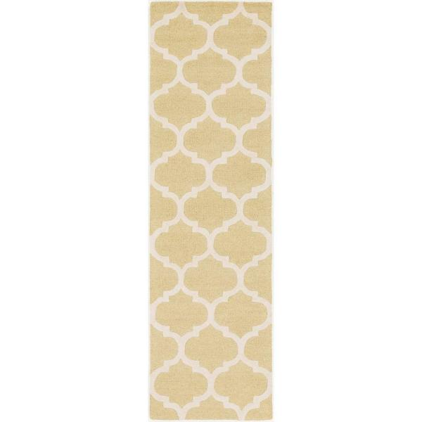 Artistic Weavers Pollack Stella Gold 2 Ft X 10 Ft Indoor Runner Rug Awah2035 2310 The Home Depot