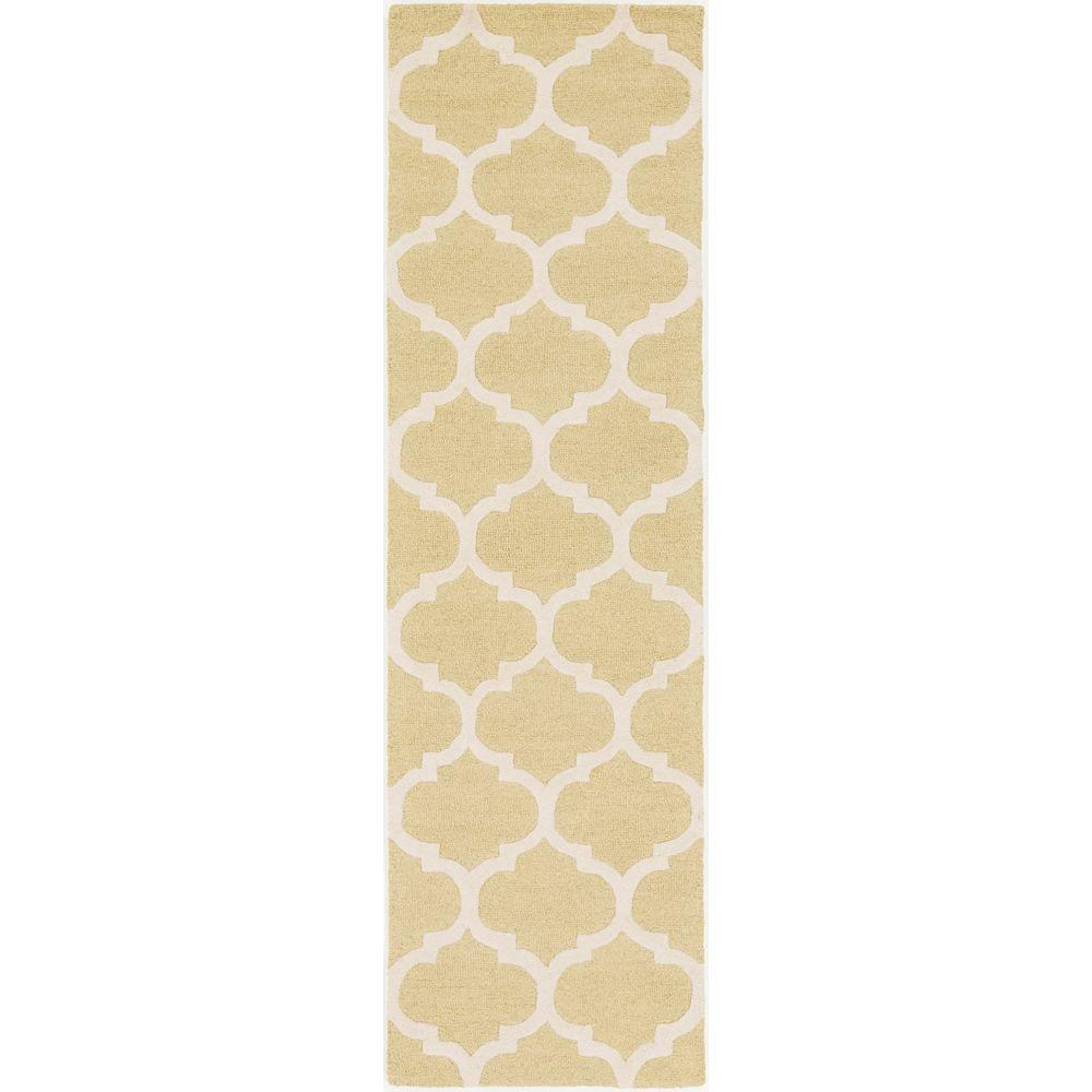 Pollack Stella Gold 2 ft. 3 in. x 8 ft. Indoor