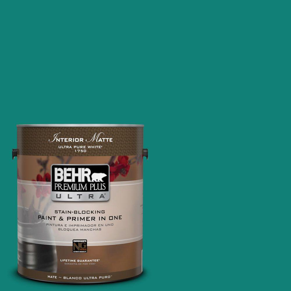 BEHR Premium Plus Ultra Home Decorators Collection 1 gal. #HDC-WR14-9 Green Garlands Flat/Matte Interior Paint