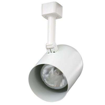 Trac-Lites White Round-Back Cylinder Light