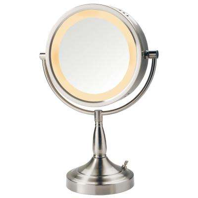 10.5 in. x 15.5 in. Lighted Table Mirror