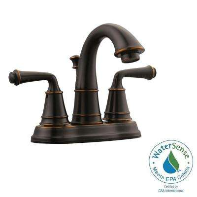 Eden 4 in. Centerset 2-Handle Bathroom Faucet in Oil Rubbed Bronze