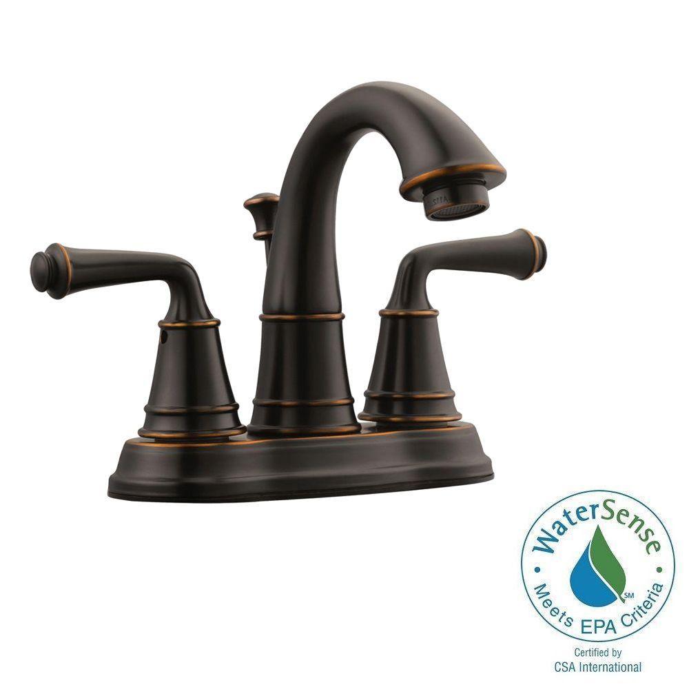 Eden 4 in. Centerset 2-Handle Bathroom Faucet in Oil Rubbed Bronze