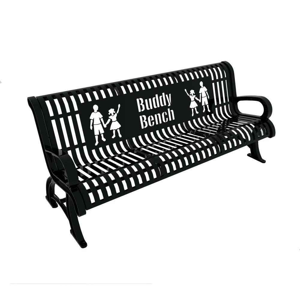 6 ft. Black Premium Buddy Bench