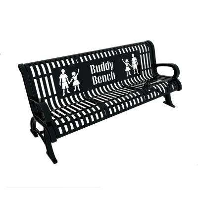 6 ft. Black Premium Buddy Bench