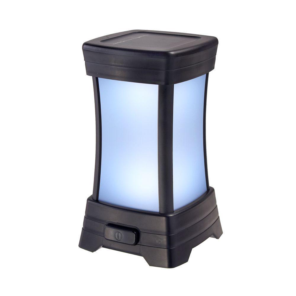 Amerelle Solar Black LED Patio Light