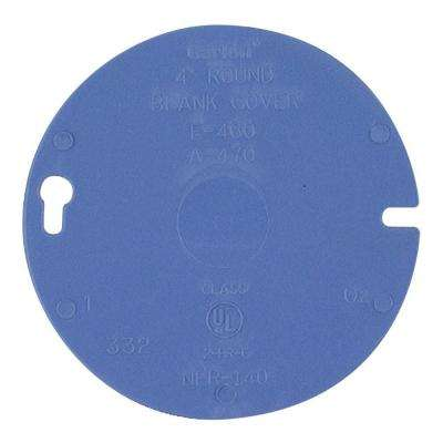 4 in. Round PVC Box Cover Blank (Case of 35)