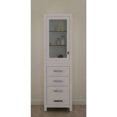 Madison 21 in. x 17 in. D x 72 in. H Free Standing Linen Cabinet in White