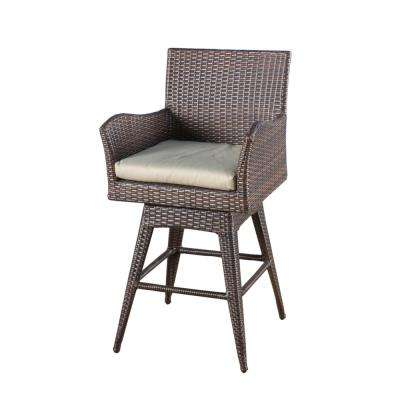 Nancy Swivel Wicker Outdoor Bar Stool