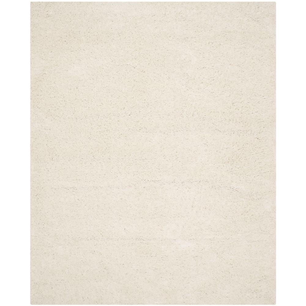 Athens Shag White 8 ft. x 10 ft. Area Rug