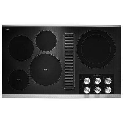 36 in. Electric Downdraft Cooktop in Stainless Steel with 5 Elements